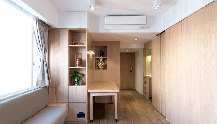 sử dụng cửa gỗ trượt cho chung cư