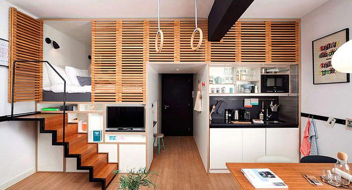 cầu thang trượt cho thiết kế nội thất chung cư